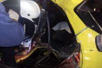 Междугородний автобус врезался в 3 машины на Московском шоссе