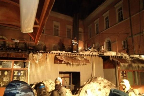Названа причина крупного пожара на Большой Покровской в Нижнем Новгороде
