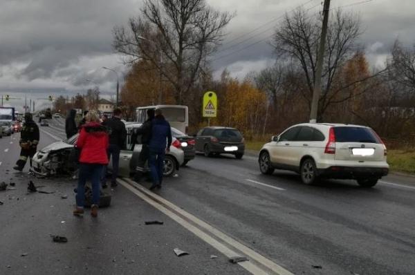 В Кстовском районе в ДТП с тремя автомобилями пострадали три человека