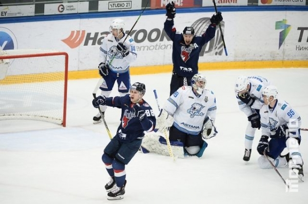 Нижегородское «Торпедо» победило «Барыс» во втором овертайме