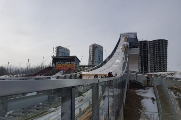 Керамическую лыжню на трамплине К-60 в Нижнем смонтируют в середине марта