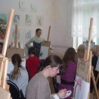 Мастер-класс нижегородской художницы Елены Абросимовой в Княгининском районе