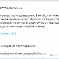 Daily Telegram: замена Манухину, утверждение Стратегии-2035 и закупки ЕЦМЗ