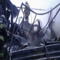 В городе Кстово сгорел гараж и два автомобиля «ГАЗель»