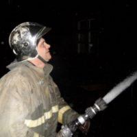 Крупный пожар уничтожил дачный дом в Городецком районе
