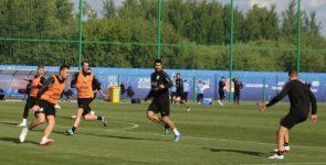 Сборная Уругвая провела первую тренировку в Нижнем Новгороде
