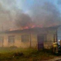 В Нижегородской области произошел крупный пожар в коровнике