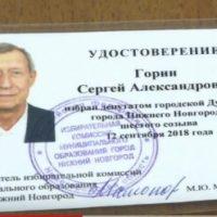 Сергей Горин стал депутатом Гордумы Нижнего Новгорода