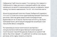 Daily Telegram: Мухинское болото, опоздание перезапуска Ильинской и рейтинг Никитина