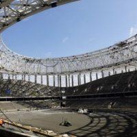 На строящемся стадионе «Нижний Новгород» произошел пожар
