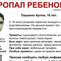 СК проводит проверку после исчезновения 16-летнего Артема Пашанина