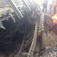 В Дзержинске железнодорожную аварию сняли на видео с высоты