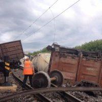 Опубликованы фото с места аварии на железной дороге в Дзержинске