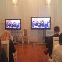 Начинается церемония вступления Никитина в должность губернатора
