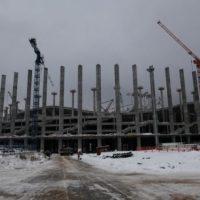 На стройплощадке стадиона «Нижний Новгород» произошел пожар