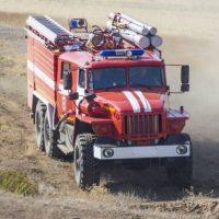В Нижегородской области сгорел комбайн