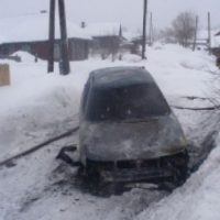 Мужчина и женщина погибли в загоревшемся автомобиле в Шахунье