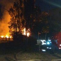 В Новинках потушили пожар площадью 600 квадратных метров