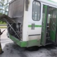 СК проводит проверку по факту пожара в маршрутке в городе Бор