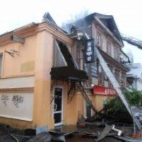 Крупный пожар произошел в доме на улице Большая Покровская в Нижнем