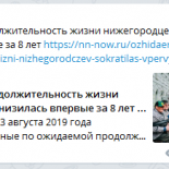 Daily Telegram: продолжительность жизни нижегородцев, нестабильность в Чкаловске и Борисов в Упрдоре