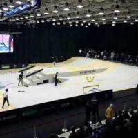Площадку чемпионата по скейтбордингу оформили по олимпийским стандартам
