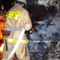 Мужчина пострадал в загоревшейся машине в Спасском районе