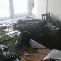 Опубликованы фото с места пожара в школе в Выксе