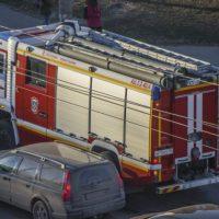 В Нижегородской области на трассе сгорел автомобиль