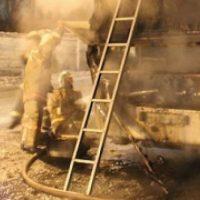 Пассажирский автобус сгорел на трассе Шахунья–Тоншаево