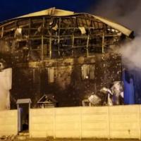 Крупный пожар произошел ночью на улице Чаадаева в Нижнем Новгороде