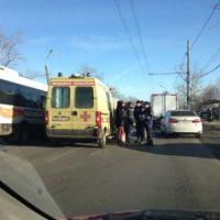 Пассажирский автобус попал в ДТП на въезде в Нижний Новгород