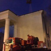 Опубликовано видео пожара в нижегородском ДК Орджоникидзе