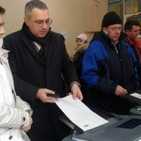 Дмитрий Барыкин проголосовал на выборах Президента РФ