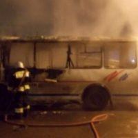В Нижнем Новгороде 4 февраля сгорел автобус «ПАЗ»