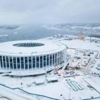 На нижегородском стадионе к ЧМ-2018 завершили монтаж фасада