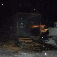 Строительный вагончик сгорел в Дальнеконстантиновском районе