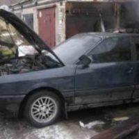 В Нижнем Новгороде сгорел гараж с автомобилем Audi