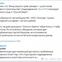 Daily Telegram: ничья по плотине, освобождение Макарова и банкротство застройщика «Окского берега»