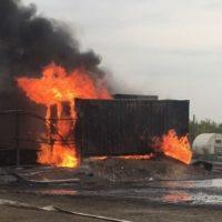 Опубликованы фото и видео пожара на химпредприятии в Дзержинске