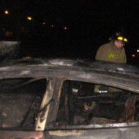 Иномарка загорелась во время движения на трассе в Кстовском районе