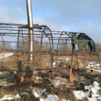На острове Низковском в Павловском районе сгорел мужчина