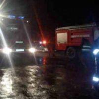 В Нижегородской области на трассе М-7 подожгли здание шиномонтажа