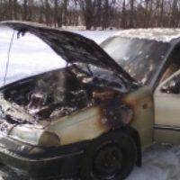 Автомобиль сгорел на трассе в Княгининском районе
