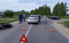 В городе Бор в результате ДТП погиб мотоциклист