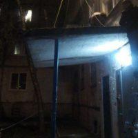 На Ковалихинской рухнула опорная бетонная плита подъезда дома