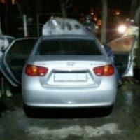 Вспыхнувший автомобиль тушили пожарные в Дзержинске