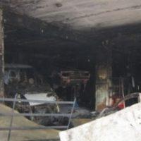В Лыскове сгорел автосервис и семь находящихся внутри автомобилей